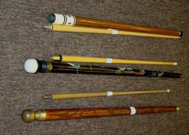 walking stick pool cue