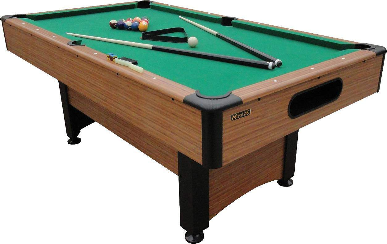 The Mizerak Dynasty Space Saver 6 .5 Foot Pool Table May Be Downsized, But  It Still Covers All The Angles!