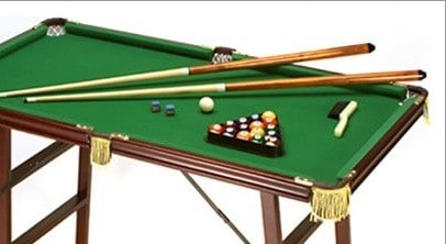 space saver pool table
