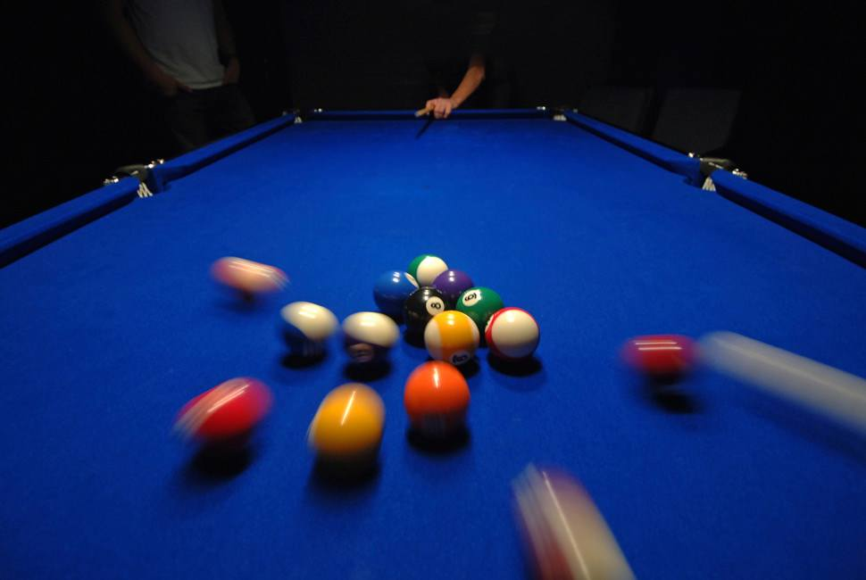 opening break in billiards