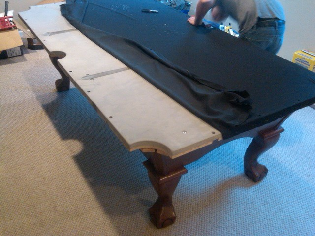 replace pool table cushion