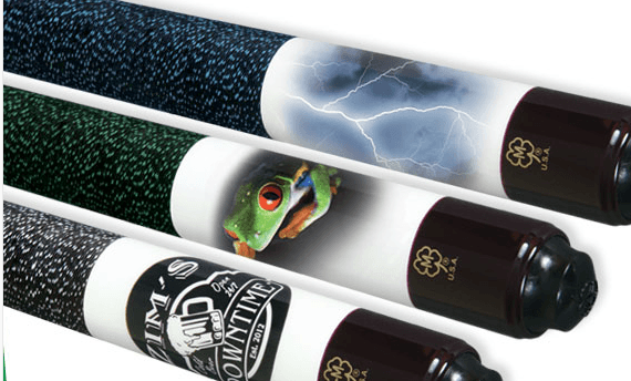 custom pool cue inlay design